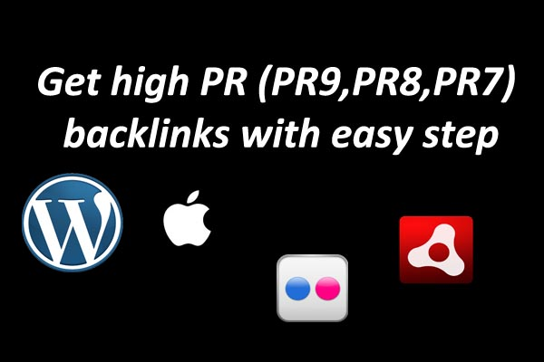 how to get high pr backlink