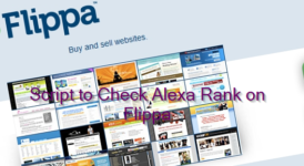 Script to Check Alexa Rank on Flippa