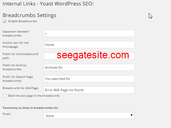 yoast settings guide internal links