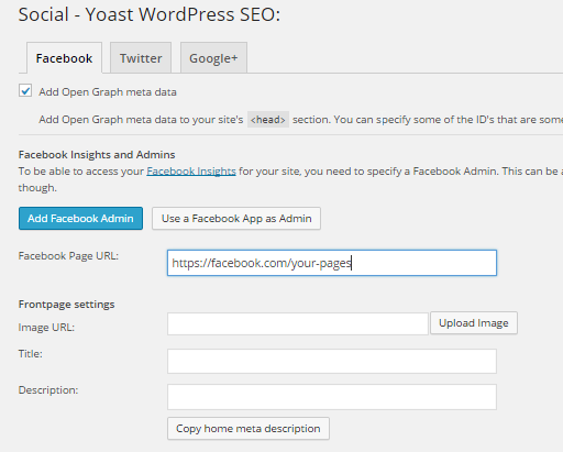 yoast settings guide social - facebook