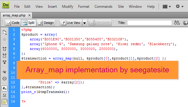 Efficiently Programming Using array map in PHP