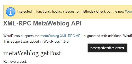 How to use metaWeblog.getPost, metaWeblog.getRecentPosts and metaWeblog.deletePost