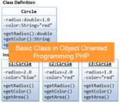 Basic Class in Object Oriented Programming PHP