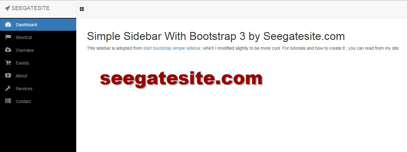 Create Cool Simple Sidebar Menu with Bootstrap 3 and Font Awesome