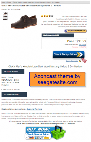 free amazon wordpress theme