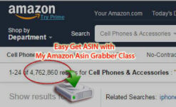 Easy Get ASIN with My Amazon Asin Grabber Class