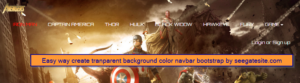 Easy way create tranparent background color navbar bootstrap by seegatesite.com