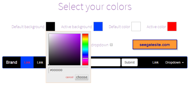 how to create tranparent background color navbar bootstrap