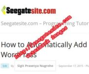 How to Automatically Add Watermark Images In Wordpress