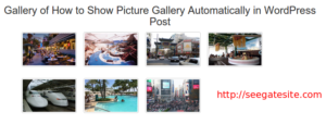How to Show Picture Gallery Automatically in Wordpress Post
