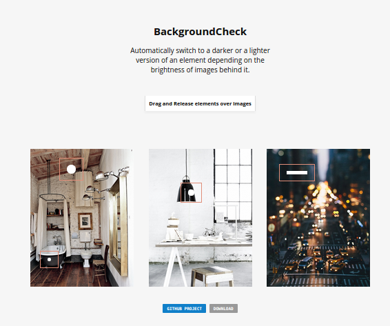 BackgroundCheck Is Free Jquery Plugin That Can Help Us To Automatically Switch To A Darker Or A Lighter Color