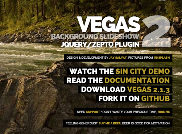 Vegas Background Is Amazing Free Jquery Plugin To Change Background Site Like Slider