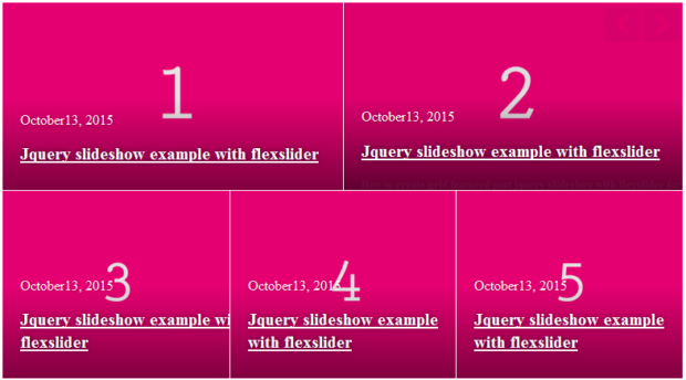 Build Grid Featured Post Jquery Slideshow With Flexslider