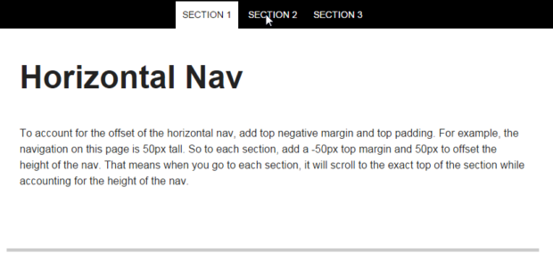 JQuery One Page Nav Is Smooth Scroll Bar When Clicking On The Navigation