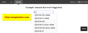 Autocomplete Amazon Keyword Suggestion With Jquery Free Script