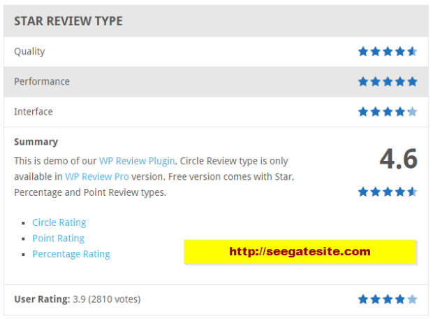 Best WordPress Review Plugi WP Review Star Review Type