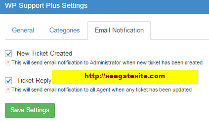 Email Notification WP Support Plus Responsive Ticket System Plugin