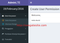 How To Create User Permissions View To Dynamic Sidebar Menu Adminlte