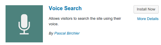 Plugin Voice Search On Wordress