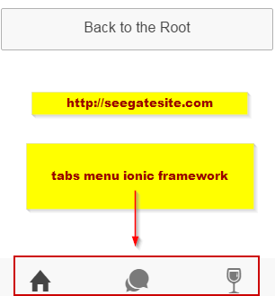 Tabs Menu Ionic Framework Ionic Framework Tutorial And Installation Guide