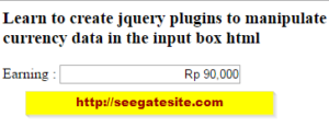 How To Create Jquery Plugin For Input Currency Easy