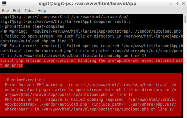 Laravel Installation Error Step By Step Installation Laravel 5 On Ubuntu For Beginners