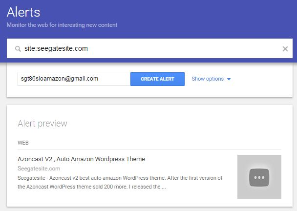 Compete In SERP With Google Alerts