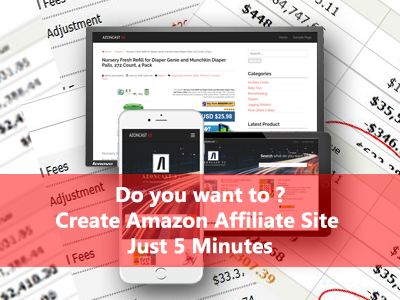 How to create amazon affiliate site just 5 minutes
