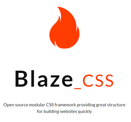Blaze CSS Responsive CSS Framework Besides Bootstrap With Mini Size