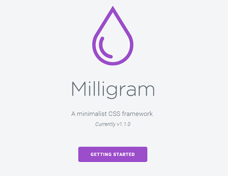Milligram Responsive CSS Framework Besides Bootstrap With Mini Size