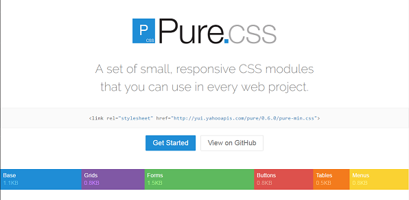 Pure Responsive CSS Framework Besides Bootstrap With Mini Size