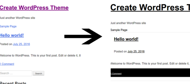 WordPress Display After Convert Custom.css Into Style