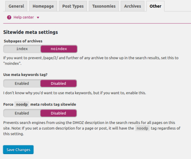 SEO By Yoast Plugin Other Setting Title And Metas