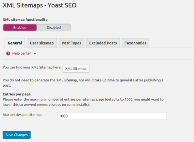 Seo By Yoast Plugin Support Xml Sitemap And Easier To Setting It