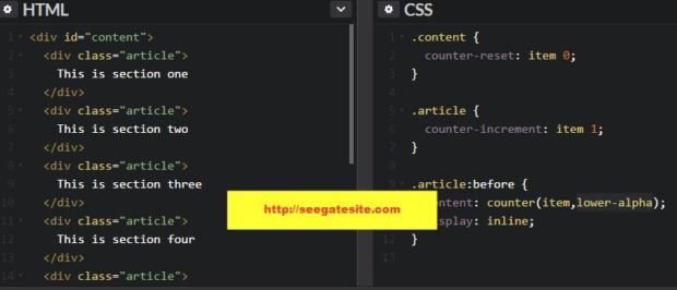 How To Create Auto Increment With Css Counter