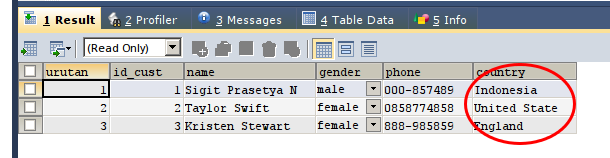 Create Country Field On The Customer Tables