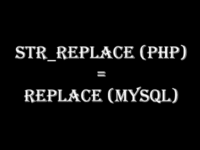 Using Str Replace PHP In MySQL With REPLACE Function