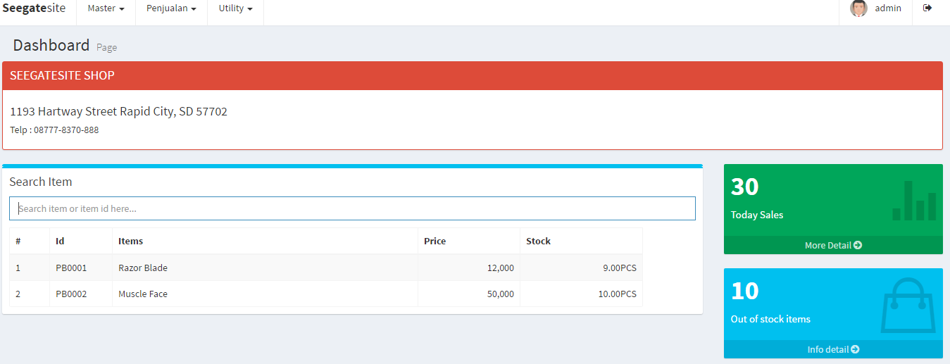 Tutorial Build PHP Point Of Sale With PDO, MySQL And Jquery
