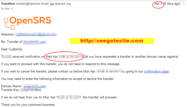 Email Confirmation Transfer Domain From Old Registar To Namecheap Hosting