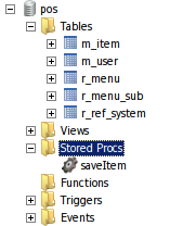 Pos Database Structure Mysql