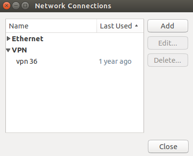 Network Connection Menu