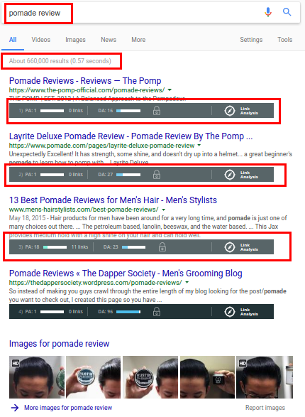 Pomade Review Targeted Niche
