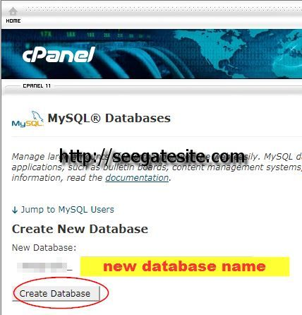 Create New Database Name Transfer WordPress Files To New Domain And Hosting