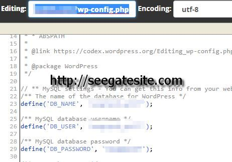 Edit Wp Config With New Database Name And Settings