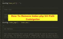 How To Remove Index Php Url Path Codeigniter
