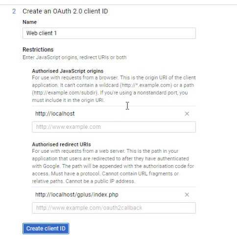 Create Oauth Client Id Credential For Google Api
