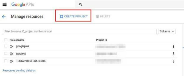 How To Create Google Api Project