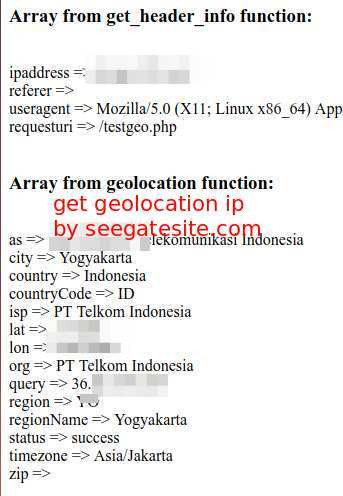 Simple Tutorial Get Geolocation IP With PHP