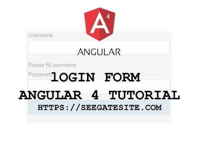 Login Form Angular 4 Tutorial For Beginner Min