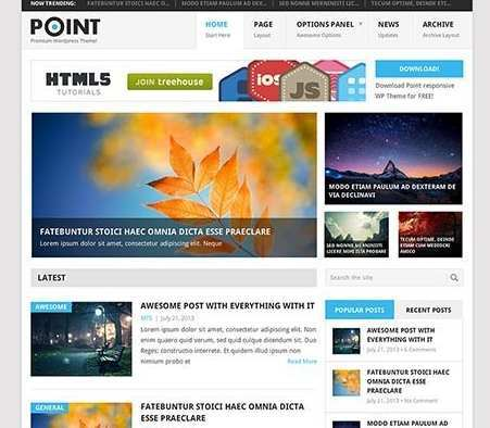 Free WordPress Responsive Theme Download The Point Min